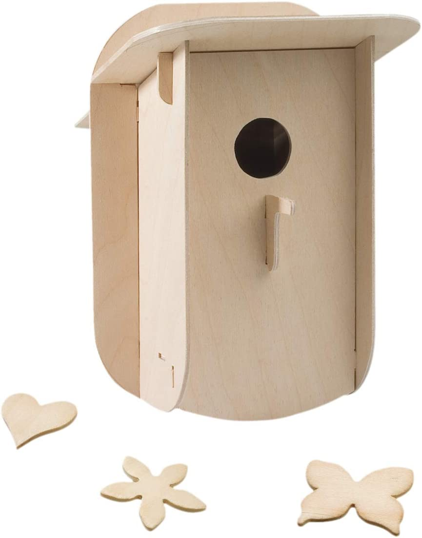 Pebaro 878 - Set de Manualidades de Madera - Motivo: Casa de pájaros