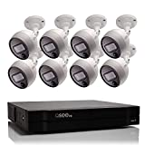 Q-See Home Security System (QC998-8FL-2) 8 Channel 4MP HD DVR with 2TB Hard Drive and (8) 4MP PIR Bullet Security Cameras, 65ft Night Vision, IP67 Indoor Outdoor, Smart Phone Compatible