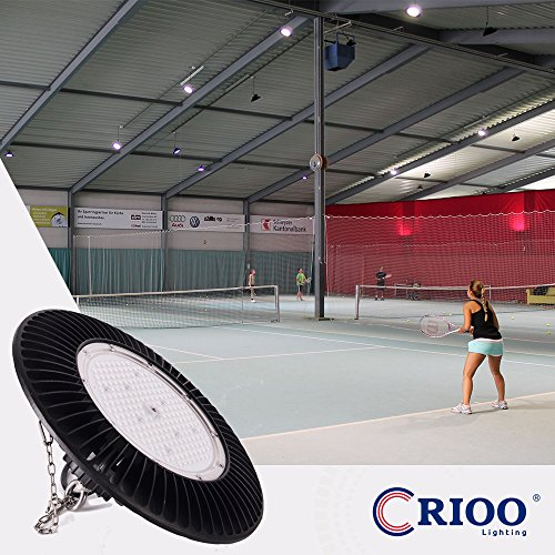 UFO Led High Bay Light 150W 5000K Cool White 130LM/W UL&DLC [600 HPS|HID] High Power Energy-efficient Luxeon 3030 Chips Lumileds IP65 Fixtures for Warehouses Factories Sport Halls Airports by Crioo Lighting (Image #7)