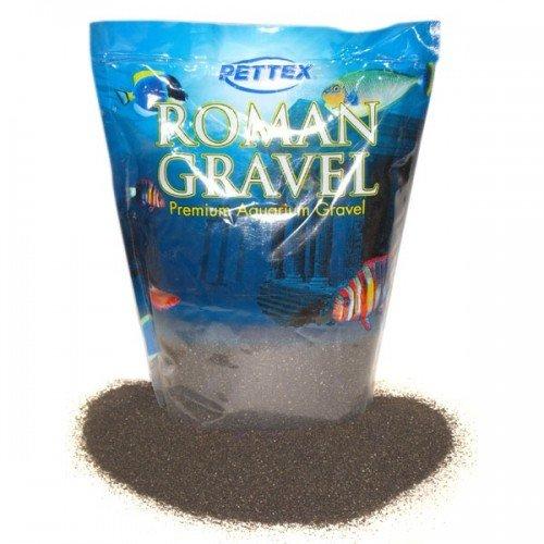 Pettex Roman Gravel Aquarium Gravel (2kg) (Black Sand) (Gravel Roman)