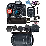 Canon EOS Rebel T7i DSLR Camera 18-55mm Lens 1894C002 + Canon 55-250STM Lens USA Model Bundle