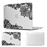 Batianda MacBook Pro 13-inch with Retina Lace Design Matte Hard Sleeve Cover Case for Macbook Pro 13.3'' with Retina Display (Model:A1425 & A1502,Version 2015/2014/2013/end 2012) - Clear