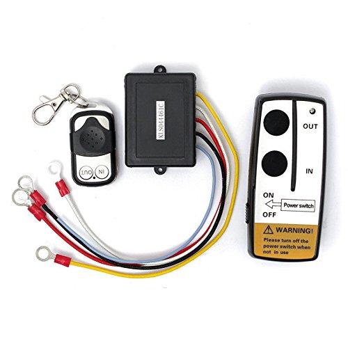 FidgetGear 50ft/15M Wireless Warn Remote Control Kit for Truck Jeep ATV Winch 12V 12 Volt