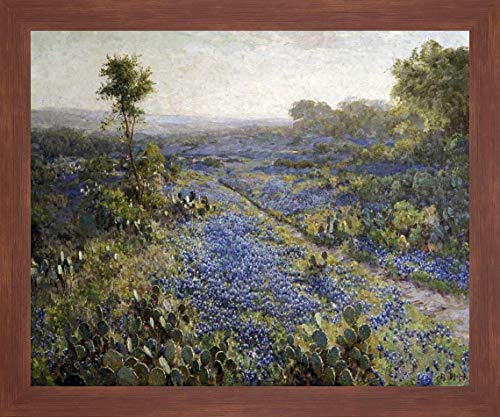 Field of Texas Bluebonnets and Prickly Pear Cacti by Julian Onderdonk - 20