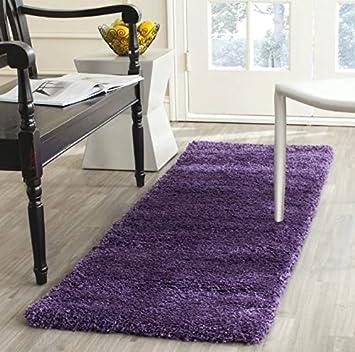 Runner Rug Plush Purple Area Rug 2  x 8  Indoor Rug Solid Luxurious Shag c86f7320b