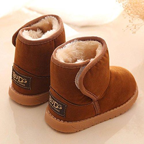 Baby Schuhe Clode® Madchen Baby Kids Warm Weich Winter-Kleinkind Stiefel Schuhe 1-6 Alter Braun