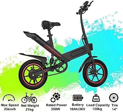 36V 350 W 10Ah con 3 Modos Entrega r/ápida en 3-7 d/ías laborales N/&P Bicicleta El/éctrica Plegable con Pedales EU Stock Bicicletas El/éctricas para Adultos de 14 Pulgadas