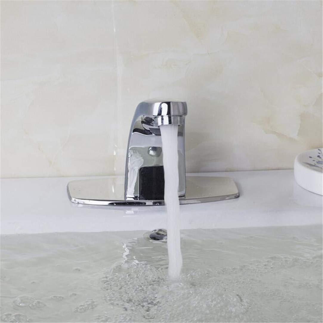 Wasserhahn Waschtischmischer Automatische Wasserhahn Hand Hand Hand Touch Free Sensor Waschbecken Wasserhahn Automatische Elektronische Mixer Sensor Tap Deck Montiert Wasserhähne 410ccb