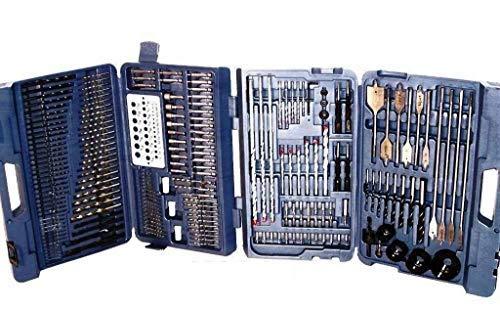 64' Long Screwdriver - 204 PC Combination Drill Bit Set Masonry Drill Bits Wood Bits