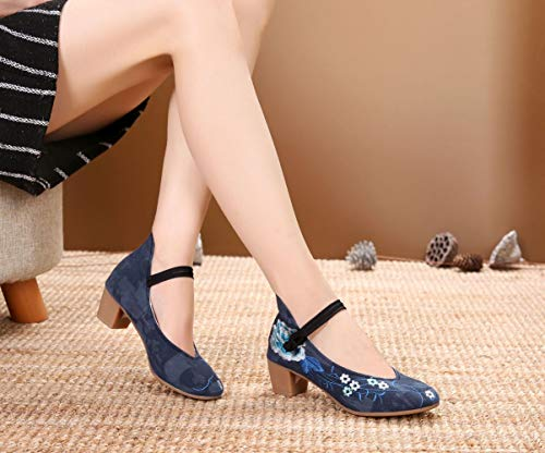 Donna Lazutom Tacco Qtwuvxa1 Blue Col Scarpe 4rwPq4x8B