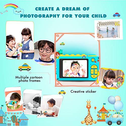 ShinePick Kids Digital Camera Mini 2 Inch Screen Children's Camera 8MP HD Digital Camera with Silicone Soft Cover & Micro SD Card (Blue) by ShinePick (Image #5)