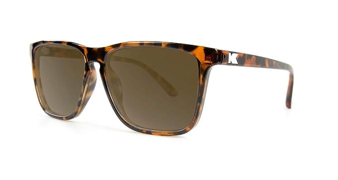Knockaround Gafas de sol polarizadas no de carriles Fast Caparazón de tortuga brillante / ámbar