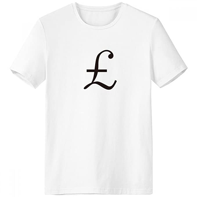 Amazon Currency Symbol Pound Crew Neck White T Shirt Spring