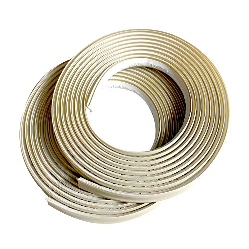 Instatrim 1/2 Inch (Covers 1/4 Gap) Flexible, Self-Adhesive, Caulk and Trim Strips for Floors, Ceilings, Countertops and More (Ivory, 10 Ft Long, 2 Pack)