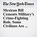 Mexican Bill Cements Military's Crime-Fighting Role. Some Civilians Are Uneasy. | Elisabeth Malkin