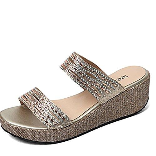 Del Zapatillas Paño Opcionales tamaño 3 B Opcional Colores Con Pantuflas De Los Cequis Las Sandalias Verano Zapatos Zzhf W4nfzx