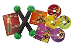 Zumba toning sticks and DVDsShed pounds and have a blast in the process with the Zumba Fitness Total Body Transformation System DVD set. Loaded with red-hot dance steps, pulsating Latin rhythms, and easy-to-follow routines, this invigorating ...