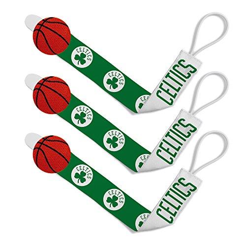 (Baby Fanatic NBA Boston Celtics Unisex BCS313Pacifier Clip (3 Pack) - Boston Celtics, See Description, See Description)