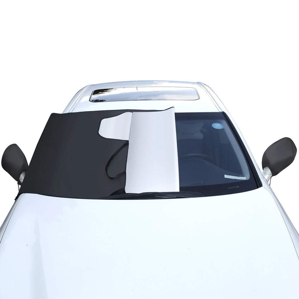 190x94cm STRIR Cubierta del Coche de Protecci/ón Solar Cubierta de Nieve Cubierta de Parabrisas Parasol de Coche Plegable Impermeable para Parabrisas Ventana Delantera