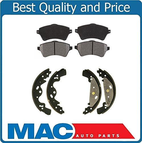 (Mac Auto Parts 36688 Land Rover Freelander Front Semi Metallic Brake Pads & Rear Brake Shoes)
