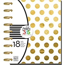"""Me and My BIG Ideas PLNR-05 Create 365 The Happy Planner """"Gold Foil Dots"""" 18 Month Planner"""