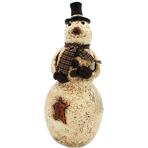 - CHRISTMAS SNOWMAN WITH STAR Resin Salem Winter Holiday Gold Star 35010