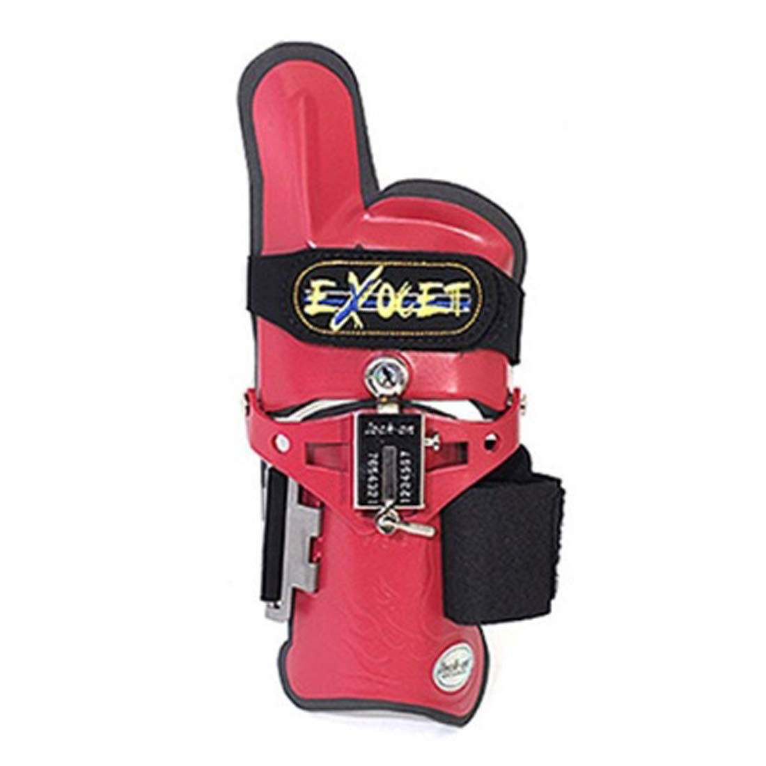 Happy bowling exocet Cobra Type Bowling Wrist Support Accessories Right Hand (Red, S/M)