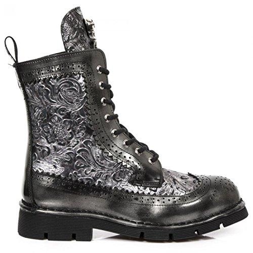 New Rock Boots M.newmili110-c6 Gotico Hardrock Punk Unisex Stiefelette Grau