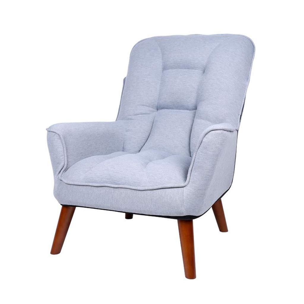 デッキチェアダイニングチェア寝室リビングルームレジャーソファ椅子休息用チェア背もたれアームチェアブックテーブルコンピュータチェア妊娠中の女性のリクライニングチェア (Color : Gray) B07TKVJSKS Gray