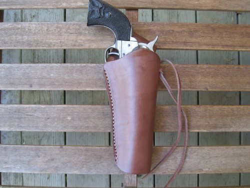 Brown Right Handed Cross Draw Leather Gun Holster