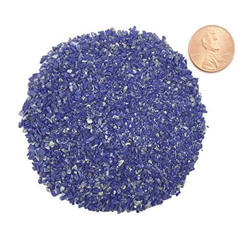 Natural Crushed, Lapis Lazuli for Stone Inlay, Medium, 1/2 Ounce
