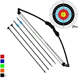 Funtress 35' Junior Compound Bow Archery Set with 4 Arrows for Youth Kids Children