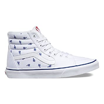 640ec91d26 Vans SK8 Hi MLB Unisex LA Dodgers White High Tops (10.5 Mens 12 Womens