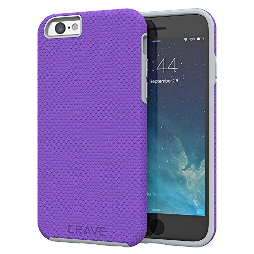 iPhone 6 Case, iPhone 6S Case, Crave Dual Guard Protection Series Case for iPhone 6 6s (4.7 Inch) - Purple / Gray