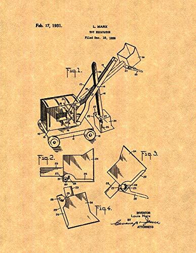 Toy Excavator Patent Print (5