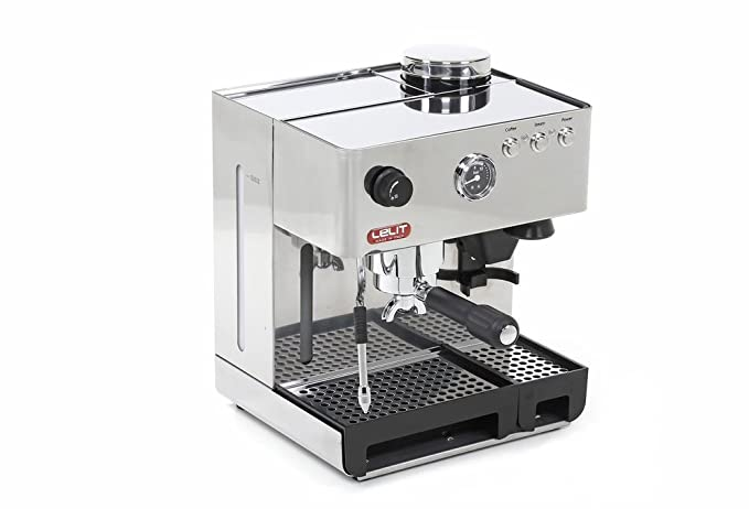 Lelit PL042EMI - Cafetera automática de 1200 W, color plateado: Amazon.es: Hogar