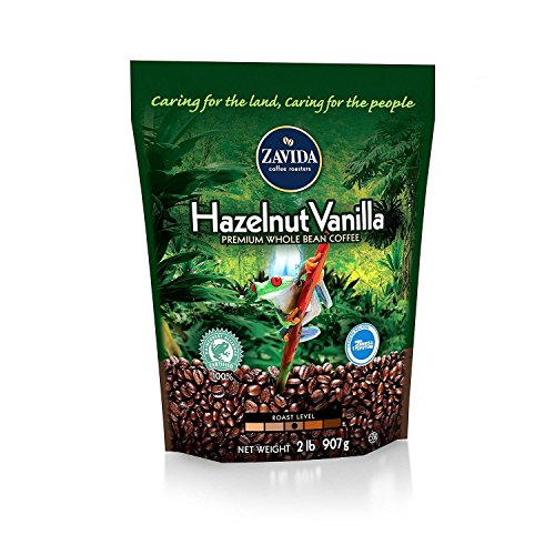 Zavida Coffee Hazelnut Vanilla Whole Bean - 2lb (pack of 2)