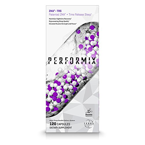 PERFORMIX ZMA -TRS, Patented ZMA + TimeRelease Sleep, Nighttime Recovery, Improve Sleep Quality, 120 Capsules by PERFORMIX