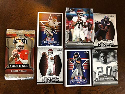 2019 Leaf Draft Complete Football Complete Hand Collated MASTER Set of 103 Cards includes a FREE WRAPPER, 3 Card insert set of Kyler Murray and 10 card insert set of Flashback Cards. Also includes Mike Weber, Dwayne Haskins, Nick Bosa, Drew Lock, Barry Sanders, Daniel Jones, Will Grier, Josh Jacobs, Parris Campbell, All-American subset, Touchdown Kings Subset and many more FREE SHIPPING WITHIN THE UNITED STATES ON ENTIRE STORE ORDER OF 25 OR MORE All Cards fresh from packs. from Leaf Draft