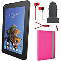 SLIDE 7 Android Tablet with Tablet Cover Accessory Bundle - Red
