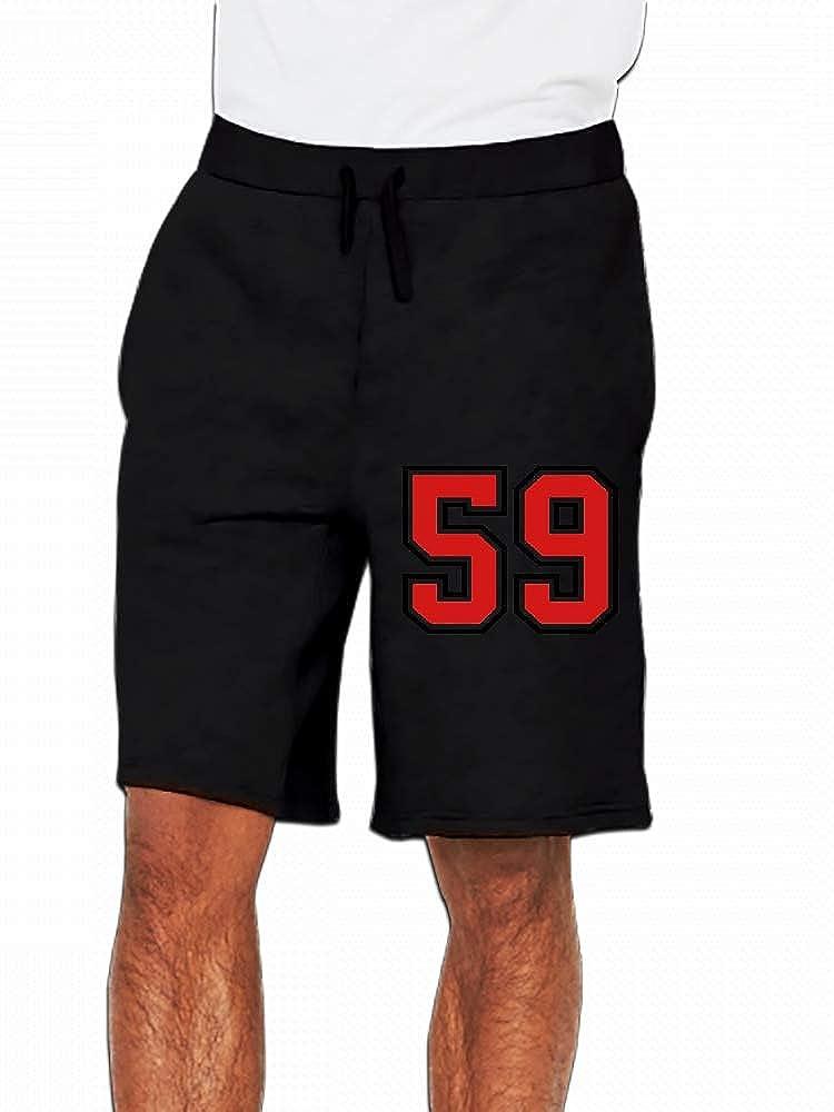 JiJingHeWang 59 Sports Jersey Football Number Mens Casual Short Trouser