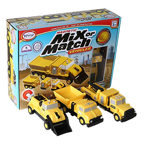 Popular Playthings Mix or Match: Construction Vehicles Set