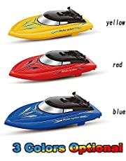 Mainstayae RC Boat for Kids Adult 10KM/H High Speed 2 Channels Remote Control Boats for Pools Racing Boat