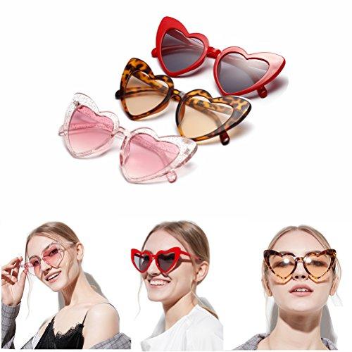 de mujer viaje de moda Cool Gafas de de Mujeres con corazón forma al bordeadas para sol verano de libre Marrón aire PPq6wAx1