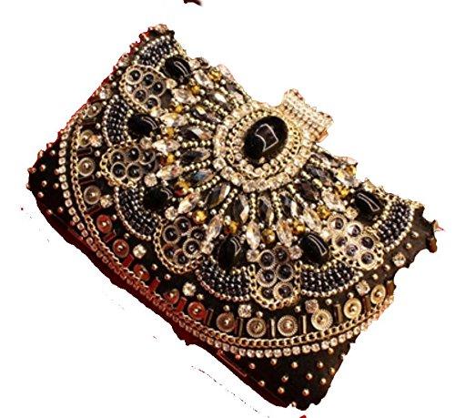tbqing New Nähen mizhu Diamant Kette Kleid Abend Tasche clutch bag ...
