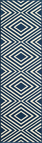 - Momeni Rugs BAJA0BAJ-8NVY2376, Baja Collection Contemporary Indoor & Outdoor Area Rug, Easy to Clean, UV protected & Fade Resistant, 2'3