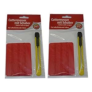 Cuchillo universal con 2x–Cúter (Cuchilla tronzable (+ Rasqueta en Juego