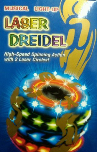 The Most Amazing Musical Light-Up Laser Dreidel for Chanukah/Hanuka Fun Ages 3 & Up!