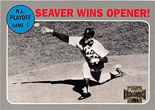 Tom Seaver baseball card (New York Mets Hall of Fame Pitcher) 2002 Topps Archives #198 1969 NLCS Game One