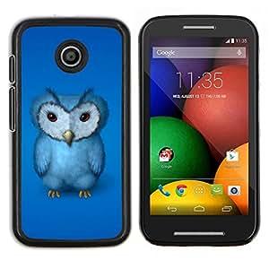 Stuss Case / Funda Carcasa protectora - El búho azul - Motorola Moto E